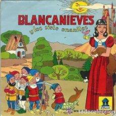 Discos de vinilo: BLANCANIEVES Y LOS SIETE ENANITOS (EP ODEON) RECONSTRUCCION 1954. Lote 115185487