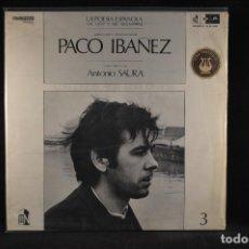 Discos de vinilo: PACO IBAÑEZ - LA POESIA ESPAÑOLA DE HOY Y DE SIEMPRE - LP. Lote 115187423