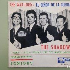 Discos de vinilo: THE SHADOWS EP 45 RPM WAR LORD LA VOZ DE SU AMO ESPAÑA 1966. EPL 14.252.. Lote 115189175