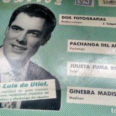 Discos de vinilo: E P (VINILO) DE JOSE LUIS DE UTIEL CON EL CONJUNTO MODERNO DE JULIO SALGADO AÑOS 60. Lote 115189911
