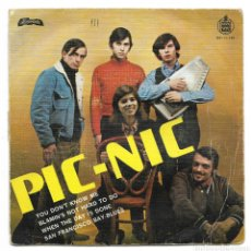 Discos de vinilo: JEANETTE, PIC-NIC, CANTA EN INGLES, EP 1968. Lote 115193355