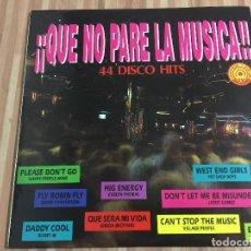Discos de vinilo: QUE NO PARE LA MUSICA,,44 DISCO HIT,,. Lote 115205515