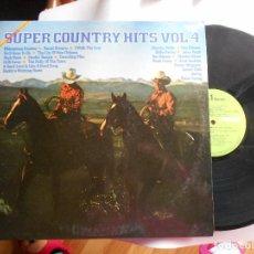 Discos de vinilo: SUPER COUNTRY HITS VOL.4-LP VARIOS. Lote 115227947