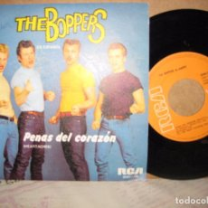 Discos de vinilo: THE BOPPERS 45 RPM. PENAS DEL CORAZON HATS OFF TO LARRY RCA 1980. Lote 115229343