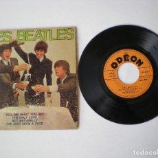 Discos de vinilo: THE BEATLES - TELL ME WHAT YOU SEE + 3 - ODEON SOE 3775 - EDITADO EN FRANCIA. Lote 115229611