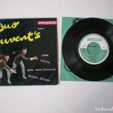 Discos de vinilo: DUO JUVENT'S - DIME + 3 - VERGARA 35.0047C - AÑO 1963. Lote 115232939
