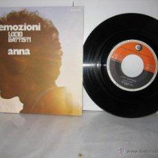 Discos de vinilo: LUCIO BATTISTI 45 RPM.EMOZIONI + ANNA RICORDI 1971. Lote 115236967