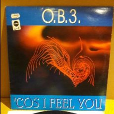 Discos de vinilo: O.B.3. / 'COS I FEEL YOU / MAXI-SG - MAX MUSIC -1995 / MBC. ***/***. Lote 115237815