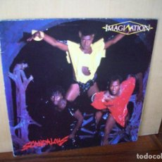 Discos de vinilo: IMAGINATION - SCANDALONS - LP CARPETA ABIERTA . Lote 115239915