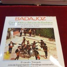 Discos de vinilo: CANCIONES Y DANZAS BADAJOZ ESPAÑOLA JONS SECCIÓN FEMENINA COMO NUEVO. Lote 115240023