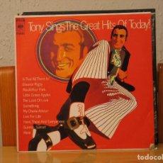 Discos de vinilo: TONY BENNETT - TONY SINGS THE GREAT HITS OF TODAY - CBS – CS 9462 - EDICION VENEZOLANA. Lote 115243491