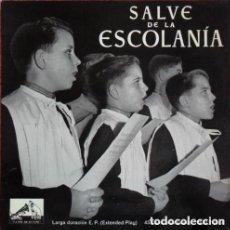 Discos de vinilo: SALVE DE LA ESCOLANIA DE MONTSERRAT SALVE GERMINANS - EP LA VOZ DE SU AMO 1958. Lote 115273875