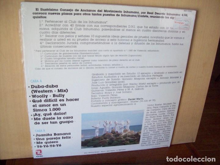 Discos de vinilo: LOS INHUMANOS - 30 HOMBRES SOLOS - LP 1988 - Foto 2 - 115279819