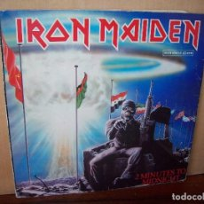 Discos de vinilo: IRON MAIDEN - 2 MINUTES TO MIDNIGHT - MAXI SINGLE CARPETA SE VE BASTANTE USADA . Lote 115281155