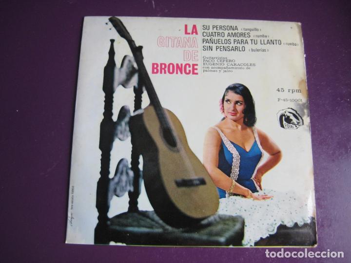 LA GITANA DE BRONCE EP FIDIAS 1966 SU PERSONA/ CUATRO AMORES +2 FLAMENCO RUMBAS POP (Música - Discos de Vinilo - EPs - Flamenco, Canción española y Cuplé)