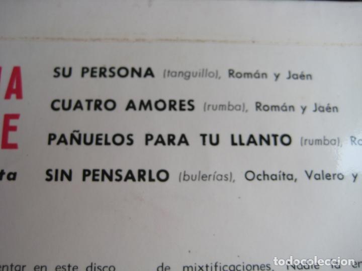 Discos de vinilo: LA GITANA DE BRONCE EP FIDIAS 1966 su persona/ cuatro amores +2 FLAMENCO RUMBAS POP - Foto 3 - 115281655