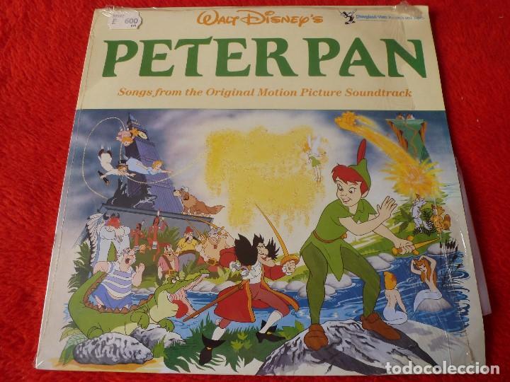 (XM)DISCO-LP PETER PAN (DISNEY)-EDICION 1969 CON LA MÚSICA ORIGINAL-RAREZA ÚNICA EN TODOCOLECCIÓN (Música - Discos - LP Vinilo - Bandas Sonoras y Música de Actores )