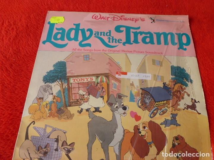 (XM)DISCO-LP LADY AND THE TRAMP (DISNEY)-EDICION 1962 CON LA MÚSICA ORIGINAL-RAREZA (Música - Discos - LP Vinilo - Bandas Sonoras y Música de Actores )