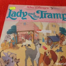 Discos de vinilo: (XM)DISCO-LP LADY AND THE TRAMP (DISNEY)-EDICION 1962 CON LA MÚSICA ORIGINAL-RAREZA . Lote 115287699
