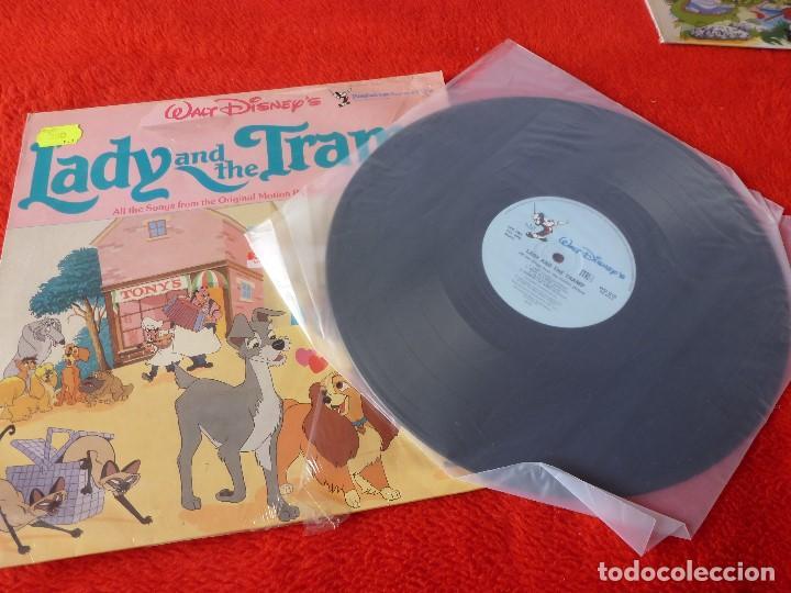 Discos de vinilo: (XM)DISCO-LP LADY AND THE TRAMP (DISNEY)-EDICION 1962 CON LA MÚSICA ORIGINAL-RAREZA - Foto 3 - 115287699