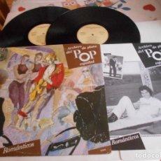 Discos de vinilo: ARCHIVO DE PLATA DEL POP ESPAÑOL-DOBLE LP-ROMANTICOS-LIBRETO. Lote 115291403