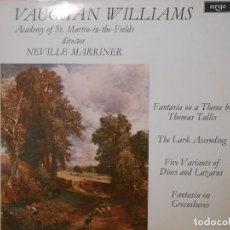 Discos de vinilo: VAUGHAN WILLIAMS - NEVILLE MARRINER. Lote 115299015