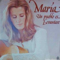 Discos de vinilo: MARIA OSTIZ. UN PUEBLO ES... LEVANTARÉ. LP . Lote 115299779