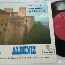 Discos de vinilo: ALBENIZ - SEVILLA CORDOBA MALLORCA - EP - ZAFIRO 1964 ORQUESTA CAMARA DE MADRID. Lote 115307615