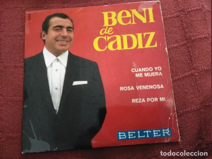 SINGLE BENI DE CADIZ (Música - Discos - Singles Vinilo - Flamenco, Canción española y Cuplé)