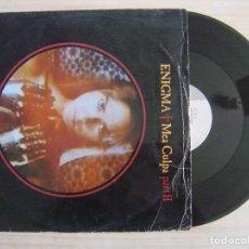 Discos de vinilo: ENIGMA - MEA CULPA PART II - MAXISINGLE 45 - ALEMAN 1991 - VIRGIN. Lote 115308603