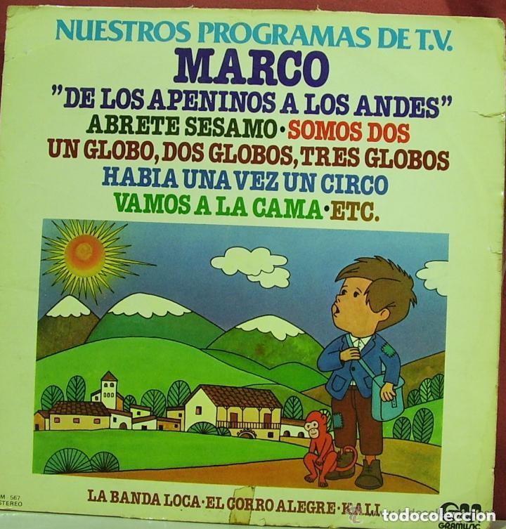 NUESTROS PROGRAMAS DE T.V. (MARCO) LP SPAIN 1977 (Música - Discos - LPs Vinilo - Música Infantil)