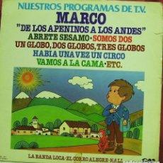 Discos de vinilo: NUESTROS PROGRAMAS DE T.V. (MARCO) LP SPAIN 1977. Lote 115308667