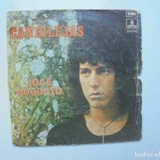 Discos de vinilo: DISCO DE JOSE AUGUSTO ''CANDILEJAS'' DEL AÑO 1974 ES UN SINGLE DE DOS CANCIONES. Lote 115308779