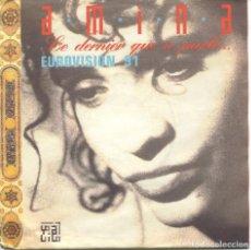 Discos de vinilo: AMINA / LE DERNIER QUI A PARLE / NEILA (SINGLE 1989). Lote 115316363