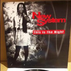 Discos de vinilo: NEW SYSTEM / THIS IS THE NIGHT / MAXI-SG - BOY RECORDS - 1995 / MBC. ***/***. Lote 115323619