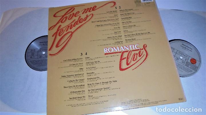 Discos de vinilo: ELVIS PRESLEY -- 2LP - ROMANTIC ELVIS - LOVE ME TENDER - (incluye poster) EX/EX - Foto 2 - 115334075