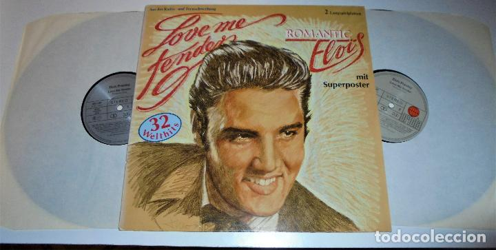Discos de vinilo: ELVIS PRESLEY -- 2LP - ROMANTIC ELVIS - LOVE ME TENDER - (incluye poster) EX/EX - Foto 3 - 115334075