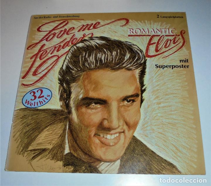 Discos de vinilo: ELVIS PRESLEY -- 2LP - ROMANTIC ELVIS - LOVE ME TENDER - (incluye poster) EX/EX - Foto 5 - 115334075