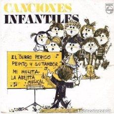 Discos de vinilo: CANCIONES INFANTILES - EL BURRO PERICO + 3 - EP PHILIPS 1969 PROMOCIONAL. Lote 115344095
