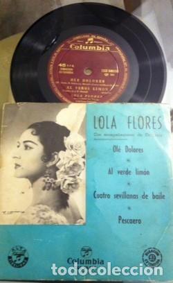 Discos de vinilo: LOLA FLORES OLÉ DOLORES DISCO VINILO AÑOS 50 - Foto 2 - 115351035