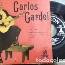 Discos de vinilo: CARLOS GARDEL. TOMO Y OBLIGO, DISCO VINILO. Lote 115351283