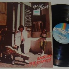 Discos de vinilo: LP - GARY MOORE - BACK ON THE STREETS - MADE IN GERMANY - THIN LIZZY, SKID ROW. Lote 115353503