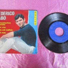 Discos de vinilo: FEDERICO CABO CON THE BRISKS LOS MUCHACHOS DEL SHAKE AHORA VIVO DANDO MIL VUELTAS ...EP . Lote 115360467