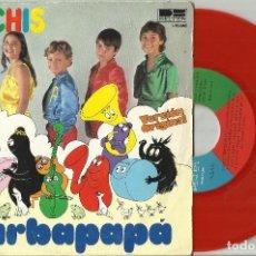 Discos de vinilo: PARCHIS SINGLE BARBAPAPA / CANTANDO AVENTURAS 1979. Lote 115384975