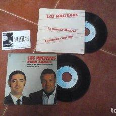 Discos de vinilo: LOTE DE 2 SINGLES DE LOS ROCIEROS. Lote 115389851
