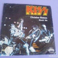 Discos de vinilo: MARAVILLOSO Y EXPLOSIVO SINGLE KISS.CHRISTINE SIXTEEN/SHOCK ME. SELLO CASABLANCA 11445 - A. AÑO 1978. Lote 115395371