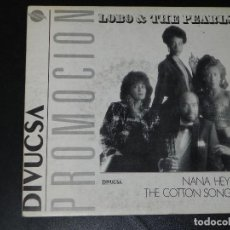Discos de vinilo: VENDO SINGLE DE LOBO & THE PEARLS, AÑO 1988. (VER SEGUNDA FOTO EN EL INTERIOR).. Lote 115399003