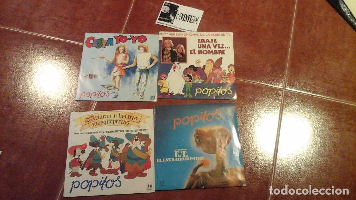 LOTE DE 4 SINGLES DE POPITOS (D'ARTACAN, E.T., ERASE UNA VEZ EL HOMBRE, CESTA YO YO) (Música - Discos - Singles Vinilo - Música Infantil)