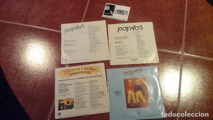 Discos de vinilo: LOTE DE 4 SINGLES DE POPITOS (Dartacan, E.T., Erase una vez el hombre, Cesta Yo Yo) - Foto 2 - 115400867