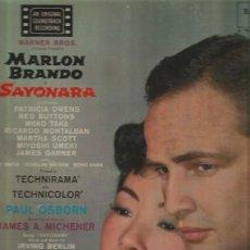 Discos de vinilo: BANDA SONORA DE LA PELICULA SAYONARA LP SELLO RCA VICTOR EDITADO EN USA. MUSICA; FRANZ WAXMAN. Lote 115401719